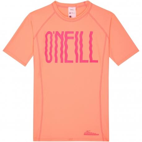 O'Neill - T-shirt Manches Courtes Filles anti UV - Pêche