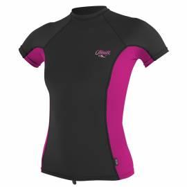 O'Neill - Tshirt Femme Anti UV Manches Courtes - Noir/Rose
