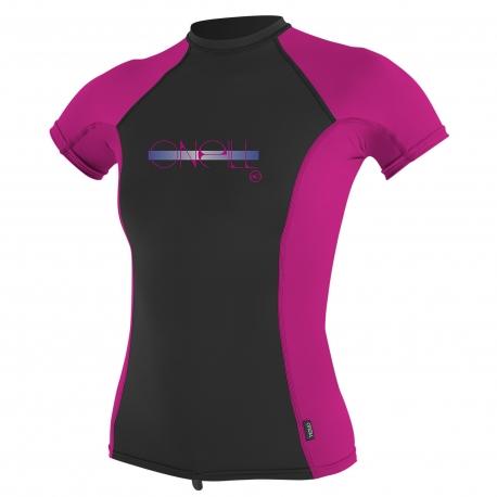 O'Neill - Girls' UV T-shirt - performance fit - pink/black