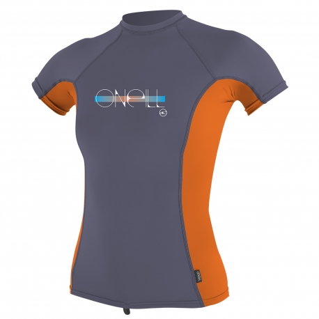 O'Neill - Tee shirt anti UV Filles Performance Fit - Papaye