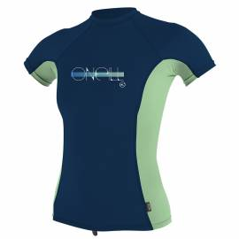 O'Neill - Tee shirt anti UV Filles Performance Fit - freshmint / abyss