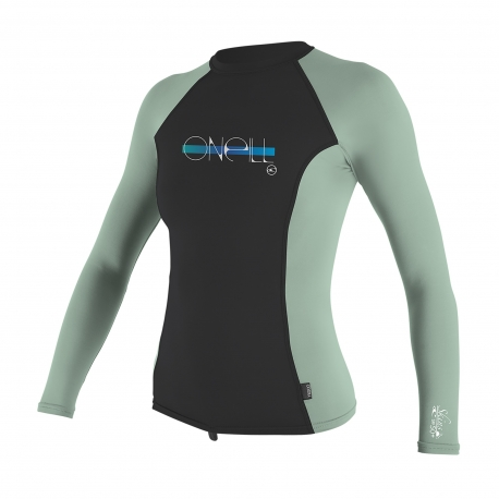 O'Neill - Tee shirt anti Uv pour Fille Manches Longues - midnight/freshmint