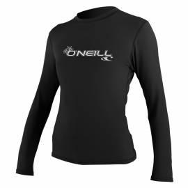O'Neill - Tee shirt Anti UV Femme manches longues Slim Fit - Noir