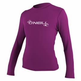 O'Neill - Tee shirt Anti UV Femme manches longues Slim Fit - Rose
