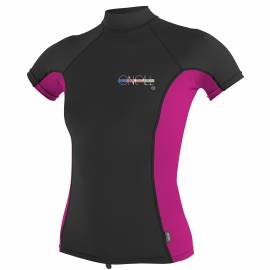 O'Neill - Women's UV shirt - short-sleeve - black / pink
