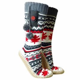 Pantoufles chauffantes avec des chaussettes, Glovii