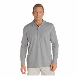 T-shirt de plage anti-UV pour hommes Gris, Coolibar