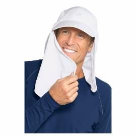Casquette de soleil anti-UV pour hommes Blanc, Coolibar
