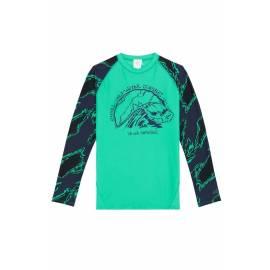 T-shirt anti-UV pour garçon - Manches longues Wave Vert Salina, O'Neill