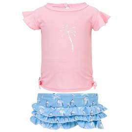 Ensemble de bain anti-UV pour bébé Rose, Snapper Rock