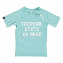 T-shirt de bain anti-UV pour enfants Tropical State of Mind - Aqua, Beach & Bandits