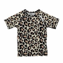 T-shirt de bain anti-UV pour enfants Leopard Noir/Multi, Beach & Bandits