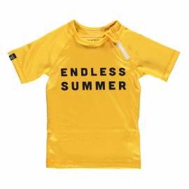 T-shirt de bain anti-UV pour enfants Endless Summer Jaune, Beach & Bandits