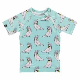 T-shirt de bain anti-UV pour enfants Crazy Cockatoo - Aqua, Beach & Bandits