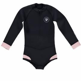Combinaison anti-UV pour filles Blacktip Fille Noir/Rose, Beach & Bandits