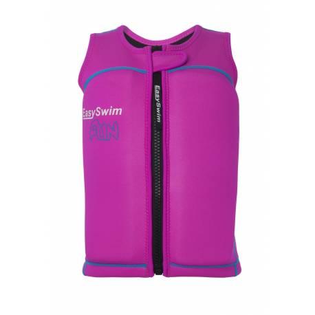 Gilet de flottaison anti-UV pour filles Fun Rose, EasySwim