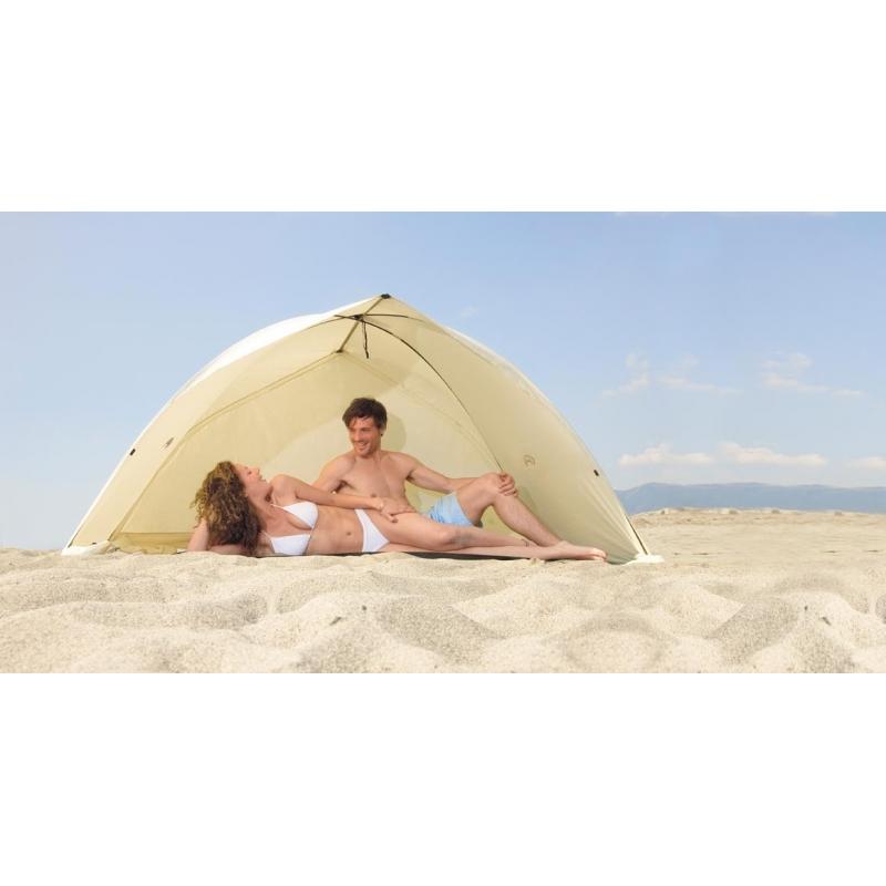 abri de plage skincom easy shell beige certifi anti uv indice 60. Black Bedroom Furniture Sets. Home Design Ideas