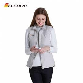 Gilet chauffant femme gris ou bleu, Eleheat