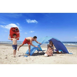 Abri de plage EASY DUO Bleu, certifié anti UV