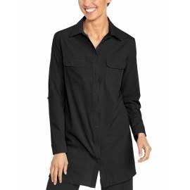 T shirt anti UV pour femme - Santorin Tunique - Noir
