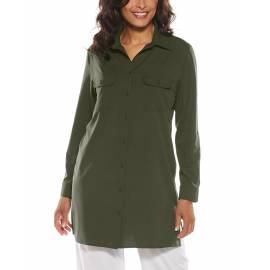 T shirt anti UV pour femme - Santorin Tunique - Deep Olive