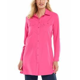 T shirt anti UV pour femme - Tunique Santorin - Bloom Rose