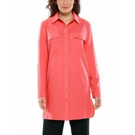 T shirt anti UV pour femme - Santorin Tunique - Living Coral