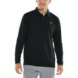 Polo Sport anti UV pour homme - Manches longues - Erodym Golf - Noir