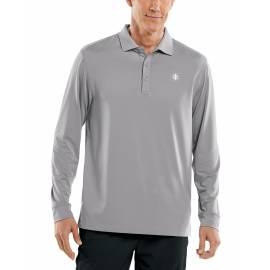 Polo Sport anti UV pour homme - Manches longues - Erodym Golf - Espace gris