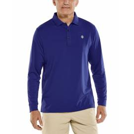 Polo Sport anti UV pour homme - Manches longues - Erodym Golf - Midnight Blue