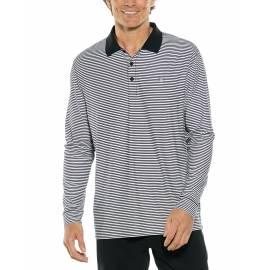 Polo Sport anti UV les homme - Manches longues - Erodym Golf - Noir / Blanc