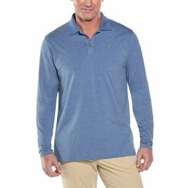 Polo anti UV pour homme - Manches longues - Coppitt - Pacific Blue