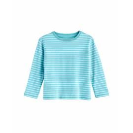 T shirt UV pour Enfant en bas âge - Manches longues - Coco Plum - Ice Bleu / Blanc