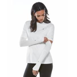 Manches Performance anti UV pour femme - Backspin - Blanc