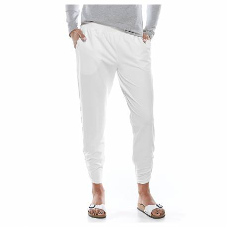 Pantalon de plage anti-UV pour femme - Blanc
