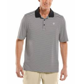 Polo Sport anti UV pour homme - Erodym Golf - Noir / Blanc