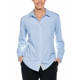 Chemisier anti UV pour femme - Hepburn Chemisier - bleu clair