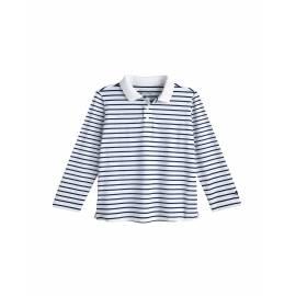 Polo anti UV pour les tout-petits - Manches longues - Coppitt - Blanc / Marine
