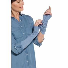 Manches solaires UV pour femme - LumaLeo - Light Blue