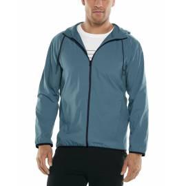 Veste d'été anti UV pour homme - Hullen capuche - Bleu Placid