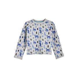 T Shirt anti UV pour bébé - Manches longues - LumaLeo - Gris