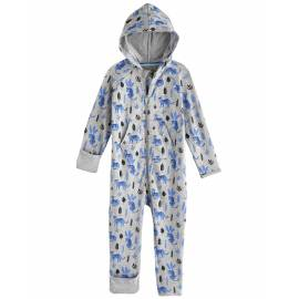 Grenouillère anti UV avec capuche pour bébé - LumaLeo Bodysuit - léopard gris