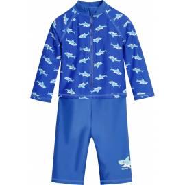 Combinaison de bain anti-UV pour Garçon - Requins Manches longues - Bleu