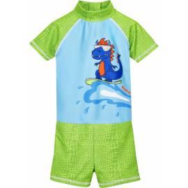 Combinaison de bain anti-UV pour Garçon - Dino - Bleu clair / vert