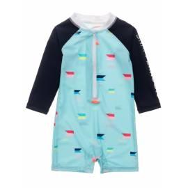 Combinaison de bain anti-UV pour bébés Garçon - Manches longues - Maritime Fliers - Bleu clair