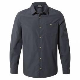 Chemise anti-UV pour hommes - Manches longues - Kiwi Ridge - Bleu acier