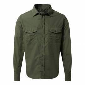 Chemise UV pour hommes - Manches longues - Kiwi - Vert foncé