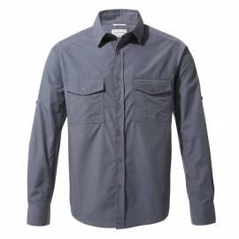 Chemise anti-UV pour hommes - Manches longues - Kiwi - Bleu Ombre