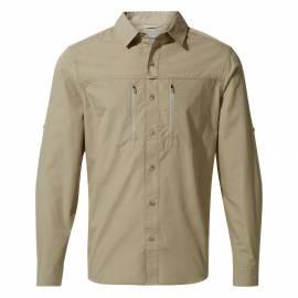 Chemise anti-UV pour hommes - Manches longues - Kiwi Boulder - Sable beige