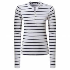 T-shirt de bain anti-UV pour femme - Cordelia Rash Vest - Navy / Blanc